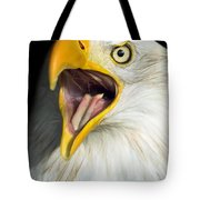 Screaming Eagle Portrait Tote Bag by Artur Bogacki