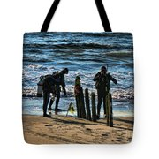 Scuba Divers Tote Bag by Paul Ward