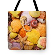 Sea horse starfish and seashells  Tote Bag by Garry Gay