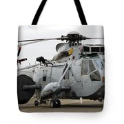 Sea King Helicopter Of The Royal Navy Tote Bag by Luc De Jaeger