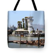 Sea Lions At Pier 39 San Francisco California . 7d14294 Tote Bag by Wingsdomain Art and Photography