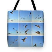 Seagull Collage 2 Tote Bag by Michelle Calkins