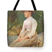 Seated Lady Tote Bag by Edwin Harris