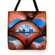 Secret Keyhole Tote Bag by Debra and Dave Vanderlaan