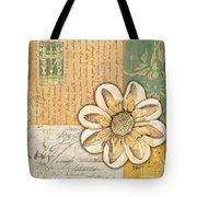 Shabby Chic Floral 2 Tote Bag by Debbie DeWitt