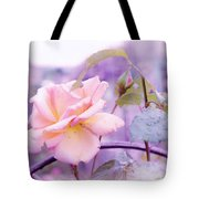 She Like The Ghost Beside Me. Scottish Rose Tote Bag by Jenny Rainbow