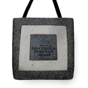 Shea Stadium Third Base Tote Bag by Rob Hans