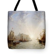 Shipping Off Scarborough Tote Bag by John Wilson Carmichael
