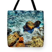 Shores Of The Aegean Tote Bag by Michael Garyet
