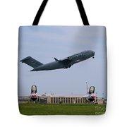 Short Field Takeoff Tote Bag by Tim Mulina