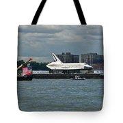 Shuttle Enterprise Flag Escort Tote Bag by Gary Eason