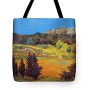 Sicily Landscape Tote Bag by Judith Barath