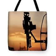 Silhouette Of A M240g Medium Machine Tote Bag by Terry Moore