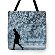 Silhouette over water Tote Bag by Carlos Caetano