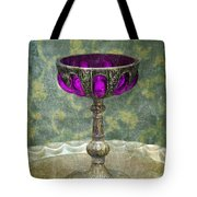 Silver Chalice With Jewels Tote Bag by Jill Battaglia