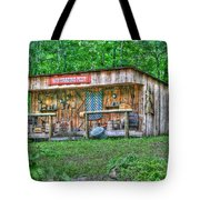Silver River Trading Post Tote Bag by Myrna Bradshaw