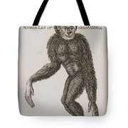 Simia Lar, Great Gibbon. Engraved By Tote Bag by Ken Welsh