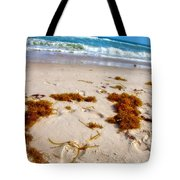 Sitting On The Beach Tote Bag by Toni Hopper