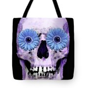 Skull Art - Day Of The Dead 3 Tote Bag by Sharon Cummings