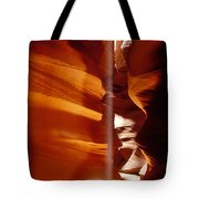 Slot Canyon Shaft Of Light Tote Bag by Garry Gay