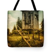 Small Cabin with Legs Tote Bag by Jutta Maria Pusl