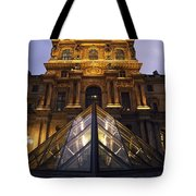 Small Glass Pyramid Outside The Louvre Tote Bag by Axiom Photographic