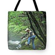 Smoky Mountain Angler Tote Bag by Marty Koch