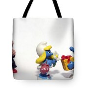 Smurf Figurines Tote Bag by Amir Paz