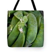 Snap Peas Please Tote Bag by Susan Herber