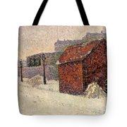 Snow Butte Montmartre Tote Bag by Paul Signac