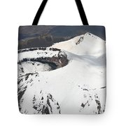 Snow-covered Ngauruhoe Cone, Mount Tote Bag by Richard Roscoe