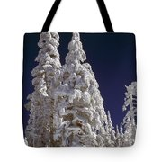 Snow-covered Pine Trees On Mount Hood Tote Bag by Natural Selection Craig Tuttle