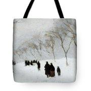 Snow Storm Tote Bag by Anton Mauve