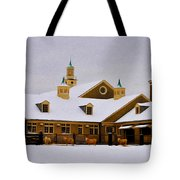 Snowy Day At Erdenheim Farm Tote Bag by Bill Cannon