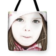 Snowy Innocence Tote Bag by Gwyn Newcombe