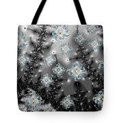 Snowy Night I Fractal Tote Bag by Betsy C  Knapp