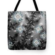 Snowy Night II Fractal Tote Bag by Betsy C Knapp