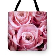 Soft Pink Roses Tote Bag by Angelina Vick