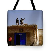 Soldiers Discuss The New Iraqi Police Tote Bag by Stocktrek Images