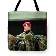 Soldiers Of A Belgian Recce Or Scout Tote Bag by Luc De Jaeger