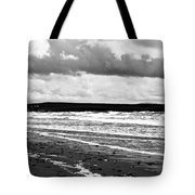 Solitary Man On A Lonely Beach Tote Bag by Nomad Art And  Design