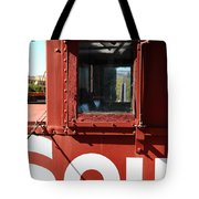 Southern Pacific Caboose - 5D19235 Tote Bag by Wingsdomain Art and Photography