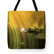 Space Battle With Two Rival Factions Tote Bag by Corey Ford