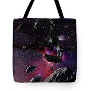 Space Scene Inspired By The Novels Tote Bag by Rhys Taylor