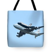 Space Shuttle Enterprise Arrives In New York City Tote Bag by Clarence Holmes