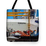 Space Shuttle Enterprise Tote Bag by Chris Lord