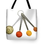 Spices In Measuring Spoons Tote Bag by Elena Elisseeva