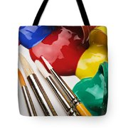 Spilt Paint And Brushes  Tote Bag by Garry Gay