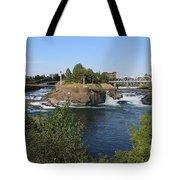 Spokane Falls Hdr Tote Bag by Carol Groenen