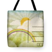 Spring And Summer Postcard Tote Bag by Setsiri Silapasuwanchai